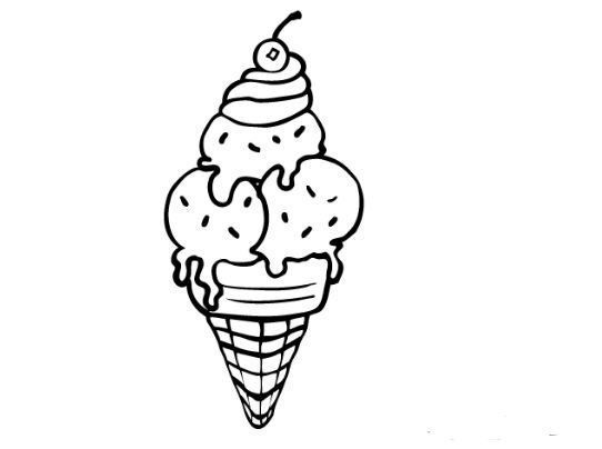 Ice Cream Cone Coloring Page Halaman Mewarnai