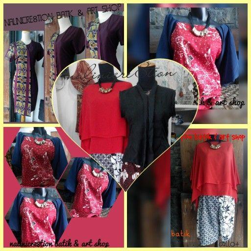 Dress tenun ikat, blouse dan kulot batik Nalinicre8tion  Yogyakarta - Indonesia
