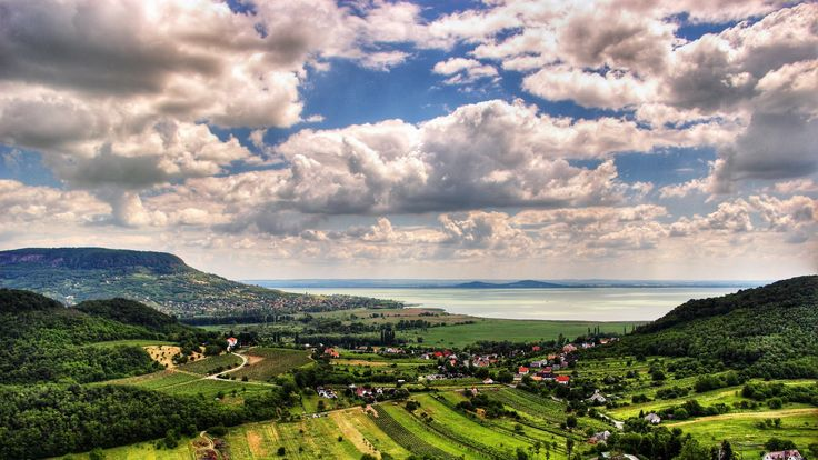 Beautiful Rural Town On Lake Balaton In Hungary