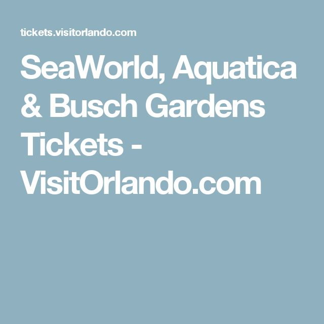 ideas about Busch Gardens Tickets on Pinterest Florida