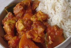 Toujours de l'île de la Réunion : cari poulet