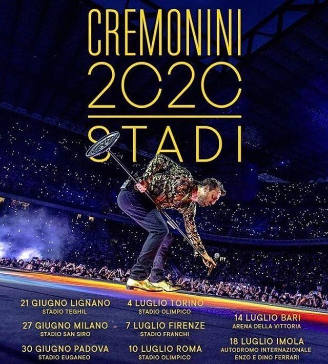 Cesare Cremonini Stadi 2020 Tktpoint Cesare Cremonini Annuncia
