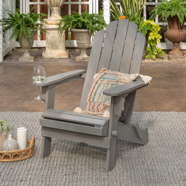 Manor Park Outdoor Acacia Wood Adirondack Chair Grey Wash Walmart Com In 2020 Outdoor Patio Chairs Adirondack Chair Patio Chairs