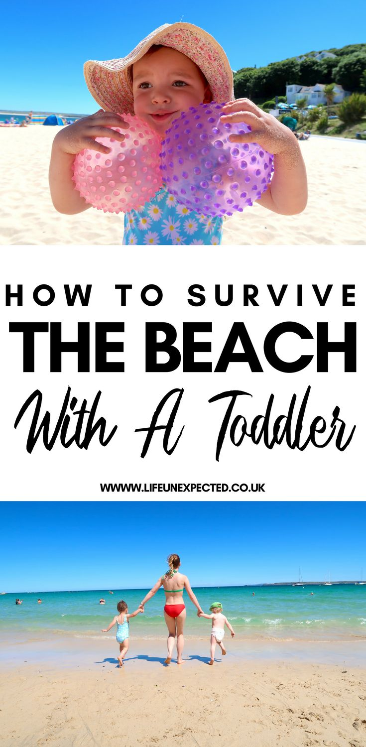 How To Survive The Beach With A Toddler.  If you're planning a beach trip with your baby or toddler this Spring or Summer, then this survival tip is for you!