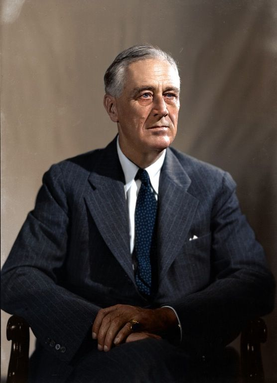 "32: Franklin Delano Roosevelt 1882-1945 Dates in office 1933-1945 Political Party: Democrat The President at the depth of the Great Depression,. Roosevelt helped the American people regain faith in themselves. He brought hope as he promised prompt, vigorous action, ""the only thing we have to fear is fear itself."" there were 13,000,000 unemployed, and almost every bank was closed. recovery to business and agriculture, relief to the unemployed and to those in danger of losing farms and homes,"
