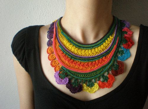 Freeform crochet necklaces by irregularexpressions