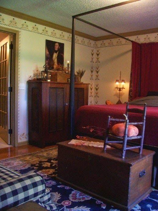 Eye For Design: Decorating Colonial/Primitive Bedrooms - 215 Best Primitive Bedrooms Images On Pinterest Primitive Decor