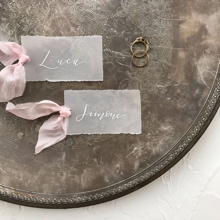 Vellum Place Cards Personalized Place Cards Wedding