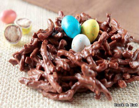 Рецепт Сладкие пасхальные гнездышки (Фото-Рецепт) - Десерты - Cook and Eat