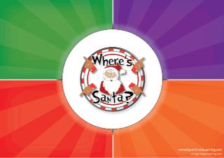 """Can you find Santa? Play the """"Where's Santa?"""" Game and see. From Super Simple Learning. #Christmas #Kindergaten #ESL"""