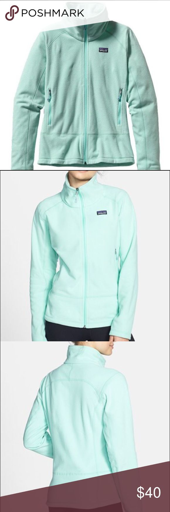 """Patagonia Micro Fleece Full Zip Teal Jacket Patagonia Teal Emmilen Microfleece Jacket Polar Blue 