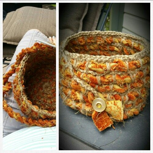 "My Upcycled ""Rustic Coiled Basket"""