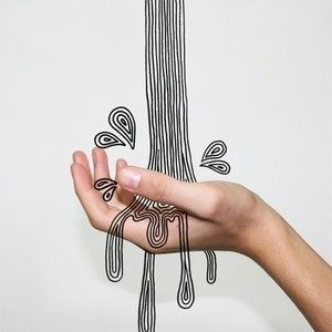 graphic water! flowing on real hand (via designspiration.net 2469612032893)