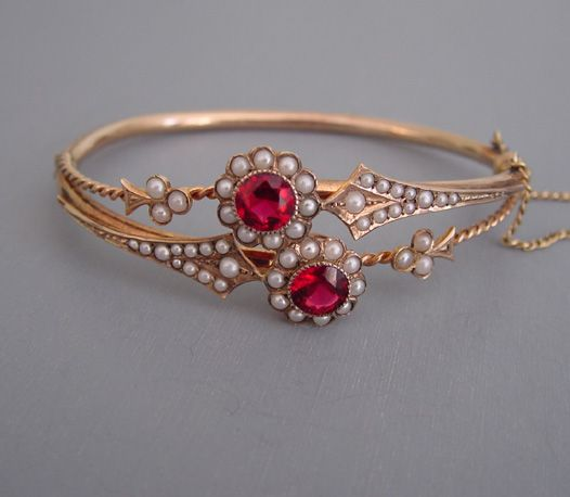 https://www.bkgjewelry.com/ruby-rings/255-18k-yellow-gold-diamond-ruby-solitaire-ring.html Victorian bracelet