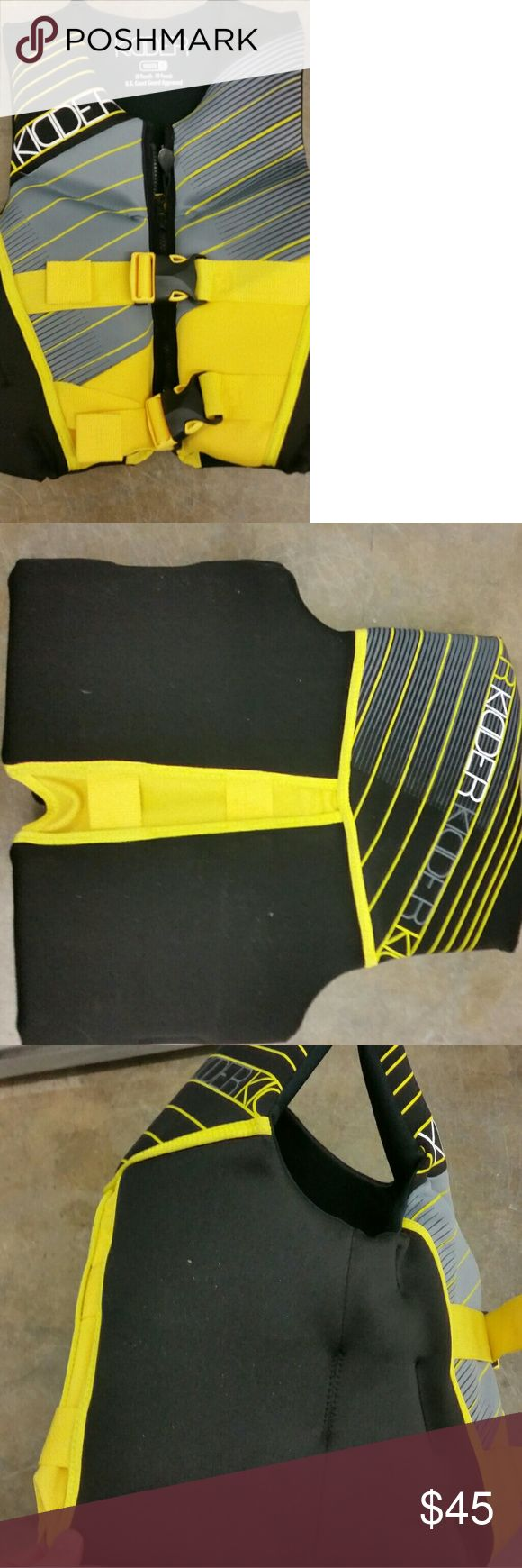 Neoprene Life Jacket Youth Size M / L 50 to 90 lbs Neoprene Life Jacket Youth Size M / L 50 to 90 lbs Kidder Swim