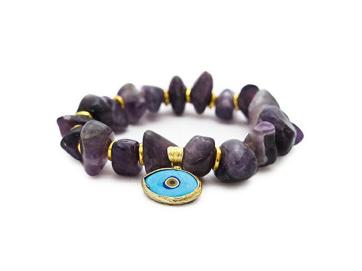 Evil Eye Charm Bracelet by Eye of the Sea at AHAlife.com