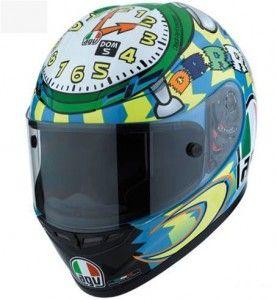 Valentino Rossi's 'Wake Up' helmet from the MIsano MotoGP - http://replicaracehelmets.com/product/agv-gp-tech-valentino-rossi-wake-up-misano-helmet/