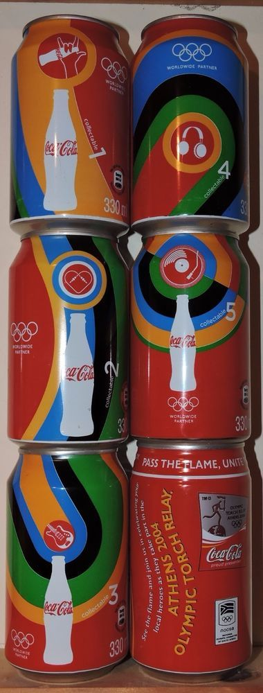 Olympic Games Coke Cans - South Africa  | eBay