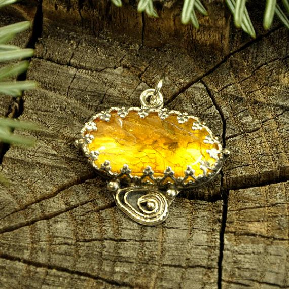 Fly high baby Baltic amber insect pendant / necklace  by Ankanate