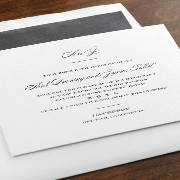 40 Best Images About TIMELESS WEDDING INVITATIONS On