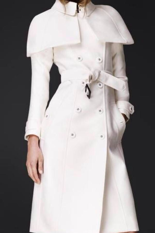 burberry white trench