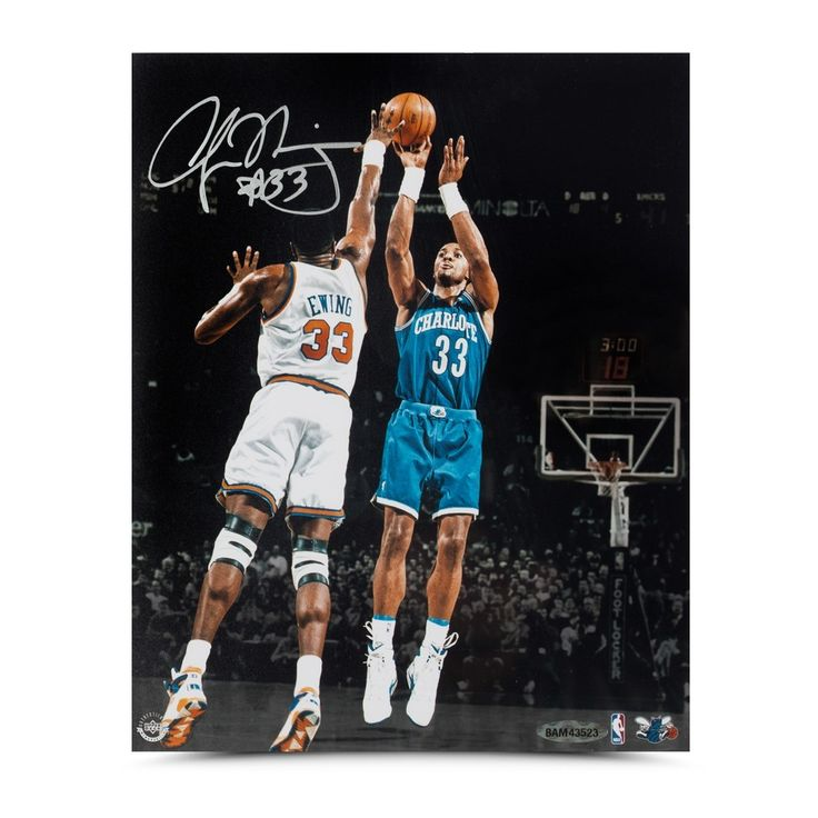 """ALONZO MOURNING Autographed """"Foul Line Jumper"""" 8 X 10 Photo UDA - Game Day Legends"""