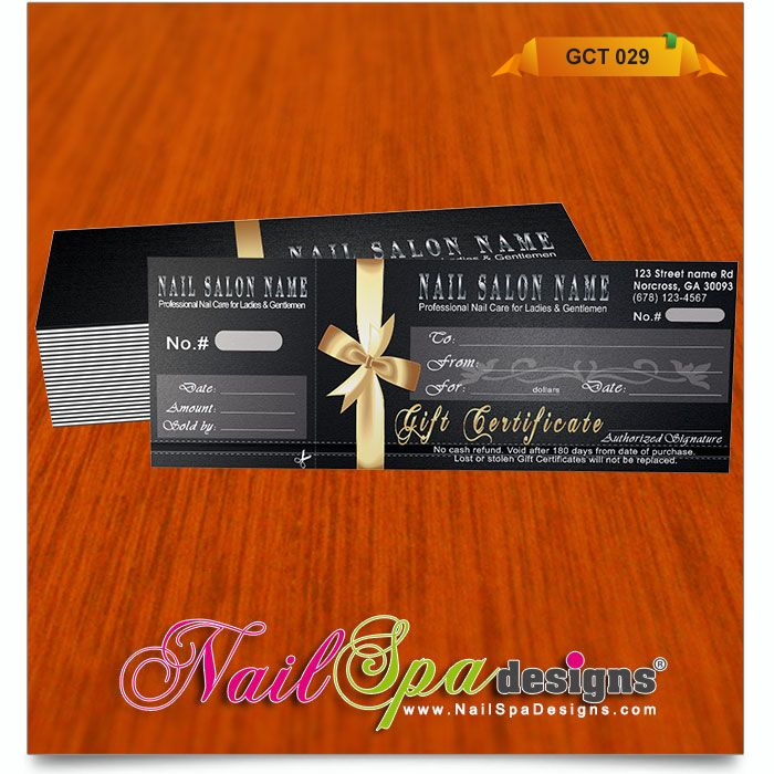 The 50 Best Nail Spa Gift Certificate Design Images On Pinterest