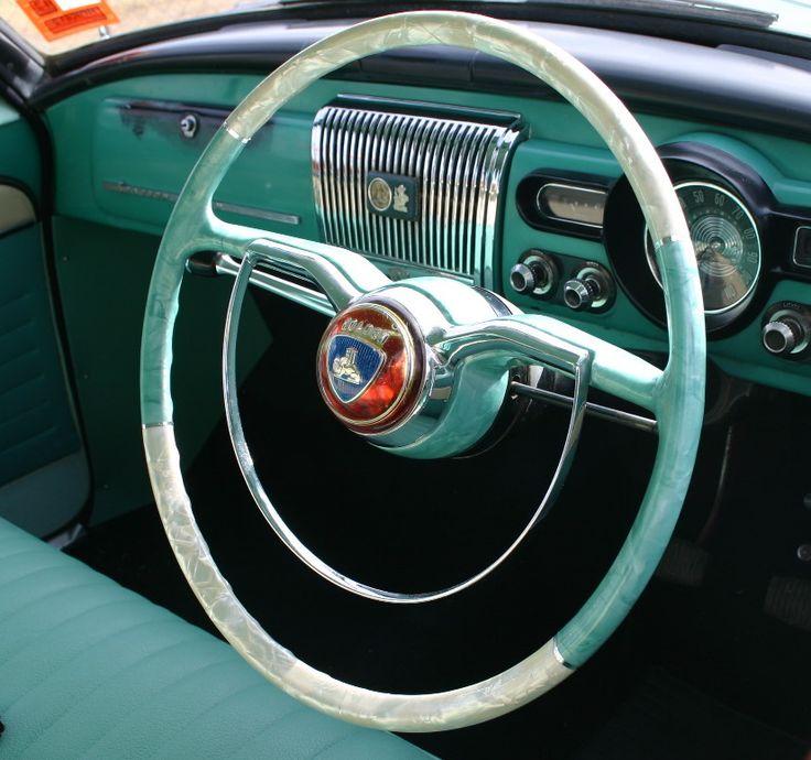 Holden FC steering wheel pearl plasticised in dual custom colours.