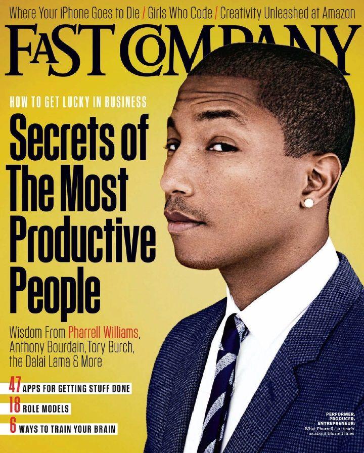 Pharrell Williams covers Fast Company magazine