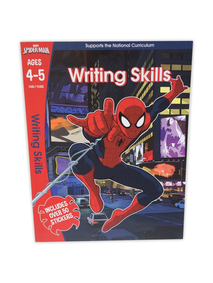 Build your child's writing skills and boost their confidence by helping them to draw patterns, trace letters and words, spin webs with Spider-Man, and much, much more!