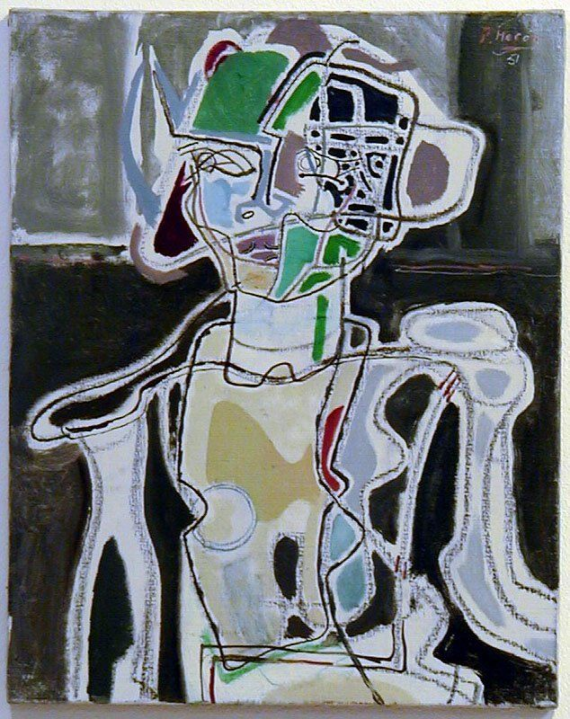 Portrait of Susan, St.Ives, 1951 by Patrick Heron (British 1920-1999)