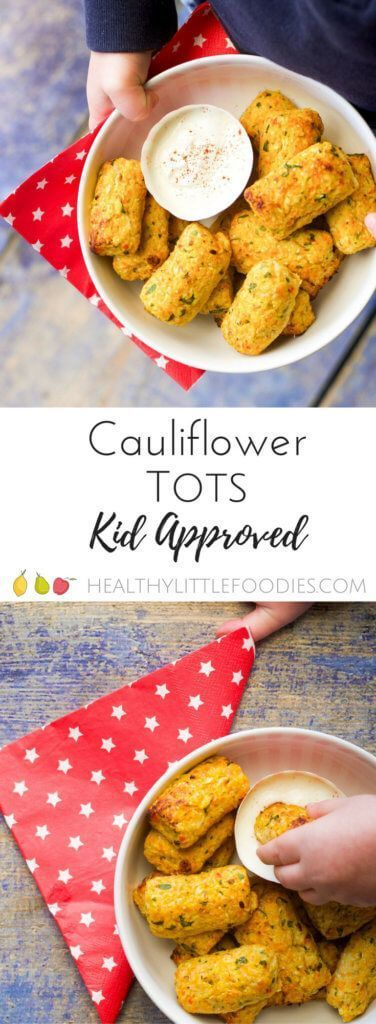 Cauliflower tots packed with 4 different veggies. Perfect finger food for kids and for baby-led weaning. Hidden Vegetables, great for fussy eaters.
