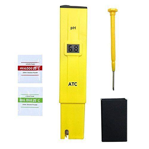 Stylo numérique PH Mètre,GYOYO Testeur Lecteur type de compteur pH Testeur Aquarium Piscine d'eau hydroponique Laboratoire,Testeur pH…