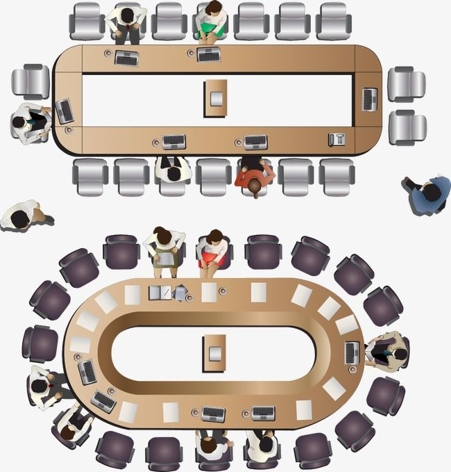 Vector Aerial Conference Table Top View Plan View Overlook Png Transparent Clipart Image And Psd File For Free Download Conference Table Top View Vector Free