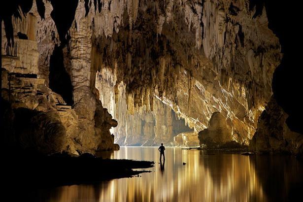 La caverna de Tham Lod, en Pang Mapha, al norte del país. Foto:/John Spies/Barcroft/BBC Mundo