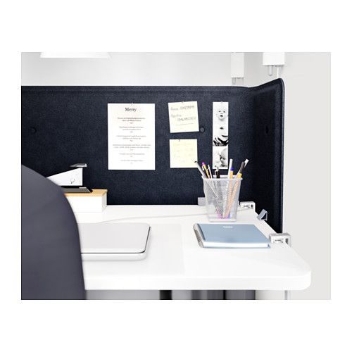 "BEKANT Screen for desk - 21 5/8 "" - IKEA, Width: 32 5/8 "" Height: 21 5/8 "" Thickness: 1 "" 55"