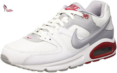 Nike Air Max Command, Baskets Homme, Blanc Cassé (White/Wolf Grey/Gym Red), 45 EU - Chaussures nike (*Partner-Link)