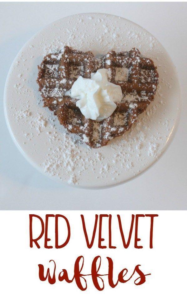 Red Velvet Waffles - Momma Lew - #MiniChefMondays