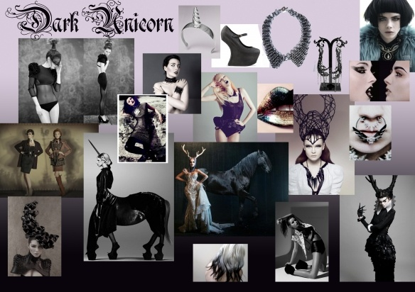 dark unicorn mood board | Unicorn/Horse Costumes ...