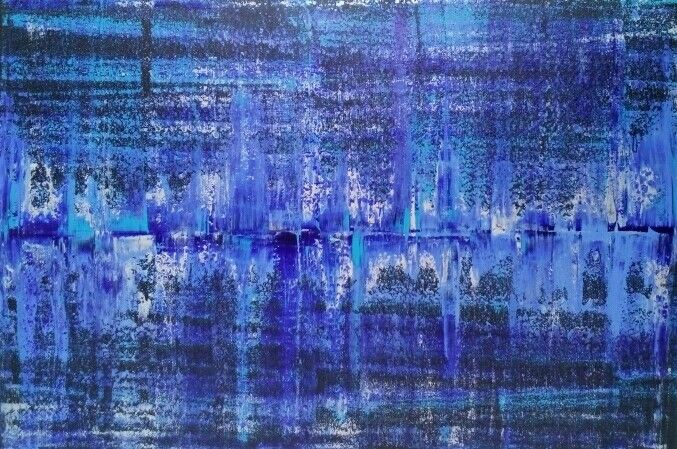 Canadian abstract Artist Robert Martin Abstracts. Title Vanish 40x60x1.5in Bali collection #10 Acrylic on canvas