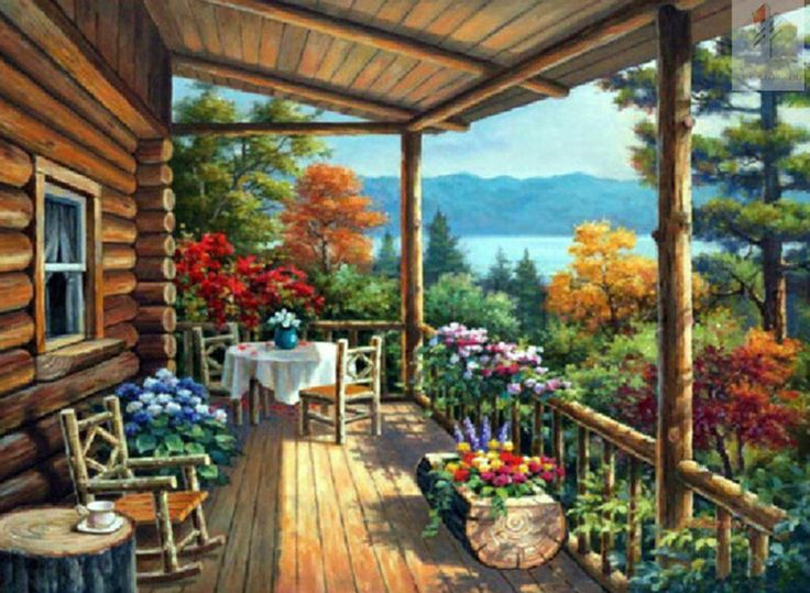 Online Get Cheap Log Cabin Paintings -Aliexpress.com | Alibaba Group