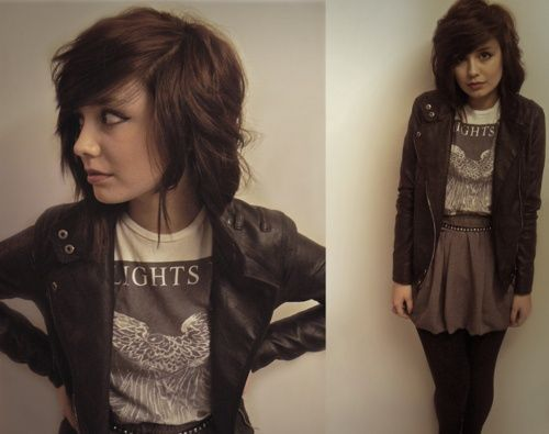 Cute rock style #rocker girl - Click image to find more Men's Fashion Pinterest pins