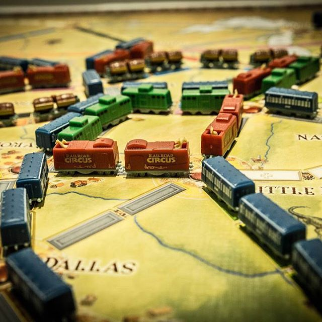 Jump the train and join the #circus #boardgames #daysofwonder #train #tickettoride #brætspil #brädspel #anniversary