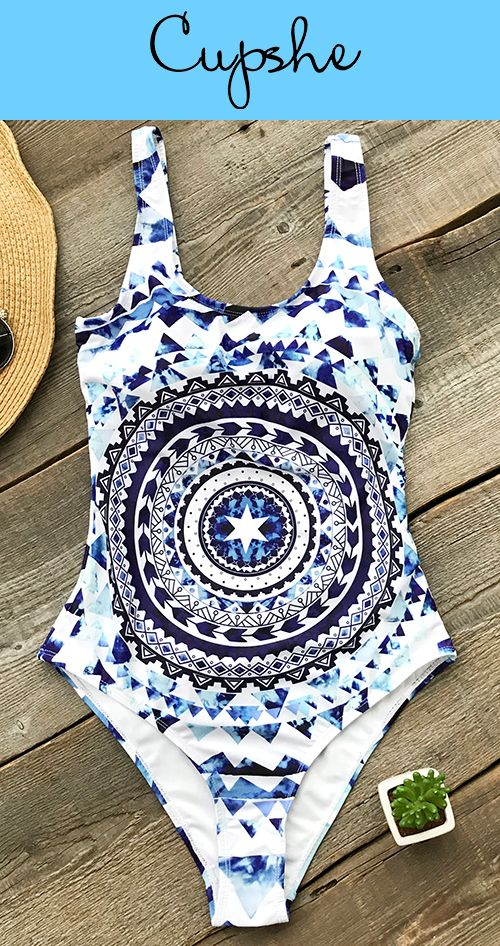 New Year New Arrival! Show you the most trendy style of beach fashion! Cupshe Love Her First Print One-piece Swimsuit features backless design and placement print! Enjoy a better vacation! Free shipping & Shop Now!