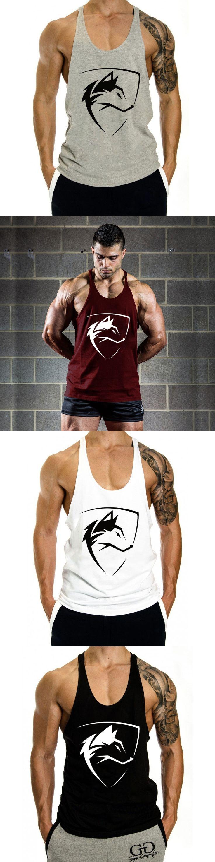 2017 Men Tank Tops Stringer Bodybuilding tank top gyms Fitness Men Vest Brand Clothing Sleeveless Shirts O-Neck tank top workout