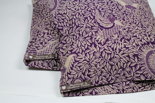 Kissenbezüge - 2 Kissenhüllen balinesischer Batikstoff lila Bezug - ein Designerstück von Knitters bei DaWanda