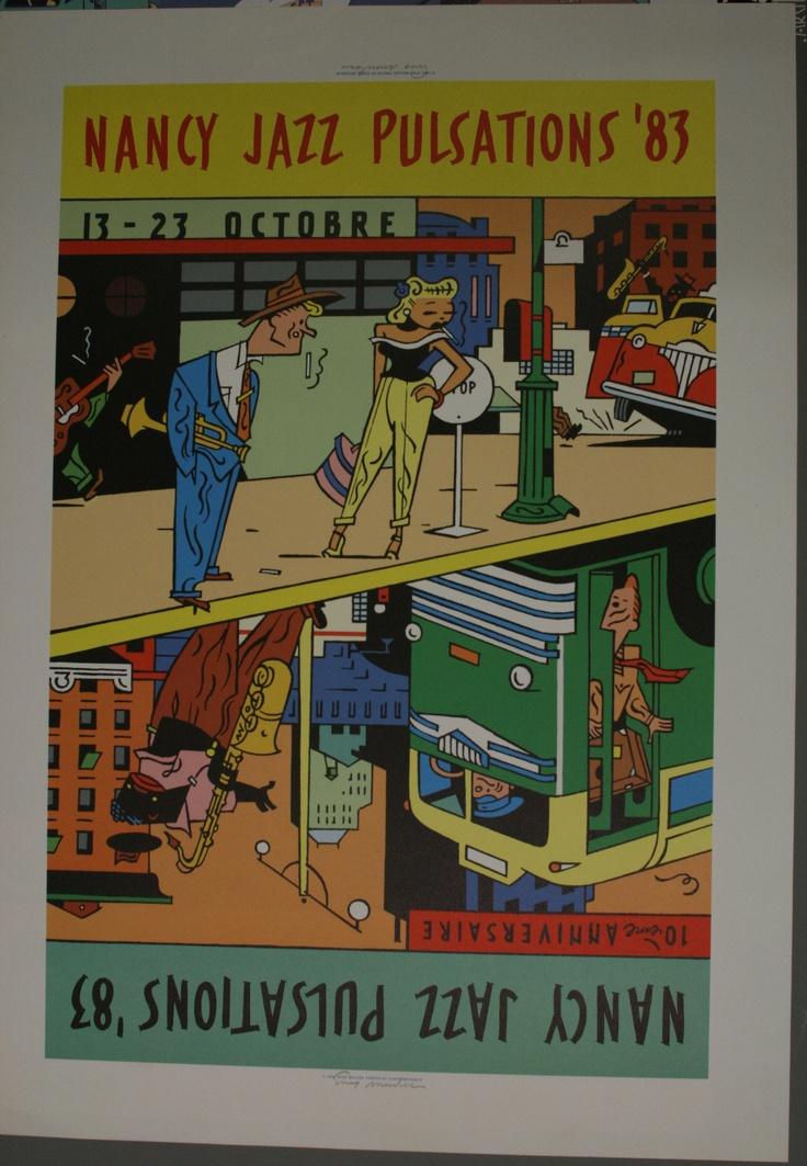 "Ever Meulen, Nancy Jazz Pulsations 83' Silkscreen on Paper, Size 27.6""x19.7"" (70x50cm), minor imperfection $45 or €35"