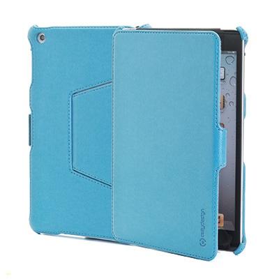 NOVITA' gennaio 2013  Custodia a libro dedicata per iPad Mini in ecopelle turchese di alta qualità con funzione stand regolabile in due posizioni.
