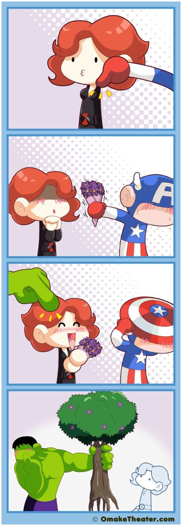 I want a fanfic where the whole team basically gives Nat gifts for no reason XD<<< Same :D