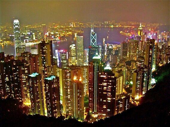 @홍콩, 피크트램에서 바라본